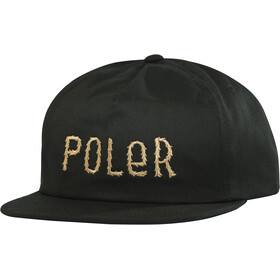 POLER Fur Font Snapback Pet, black